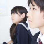 中学生、授業風景